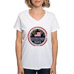 Navy Uncle Women's V-Neck T-Shirt