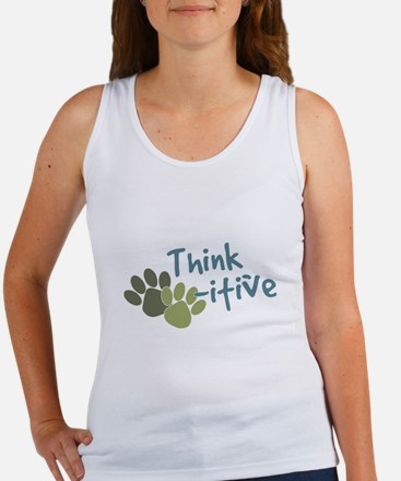 Think Paws-itive (Positive) Women's Tank Top