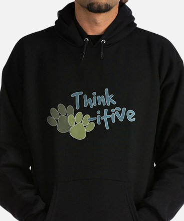Think Paws-itive (Positive) Hoodie (dark)