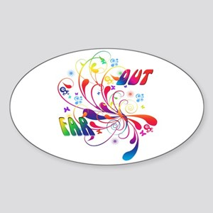 Far Out Oval Sticker