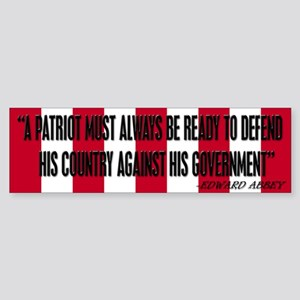 Edward Abbey bumper sticker
