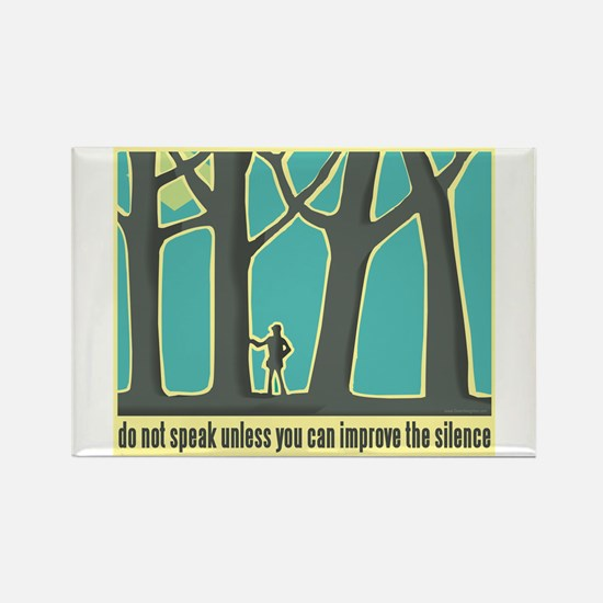 John Muir Quote Rectangle Magnet