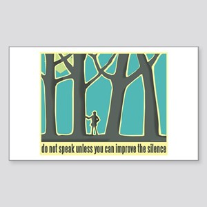 John Muir Quote Sticker (Rectangle)