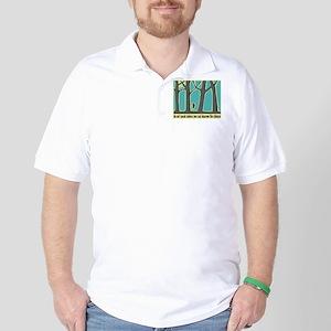 John Muir Quote Golf Shirt