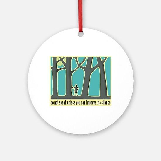 John Muir Quote Ornament (Round)