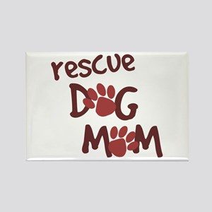 Rescue Dog Mom Rectangle Magnet