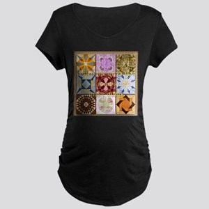Harvest Moons Quilt Maternity T-Shirt