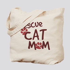 Rescue Cat Mom Tote Bag