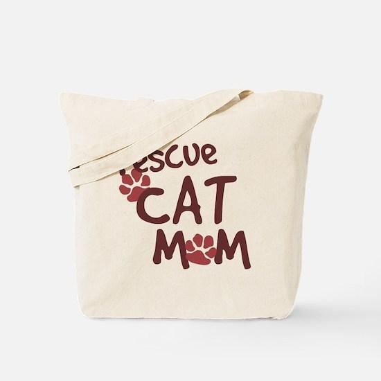 Rescue Cat Mom Tote Bag
