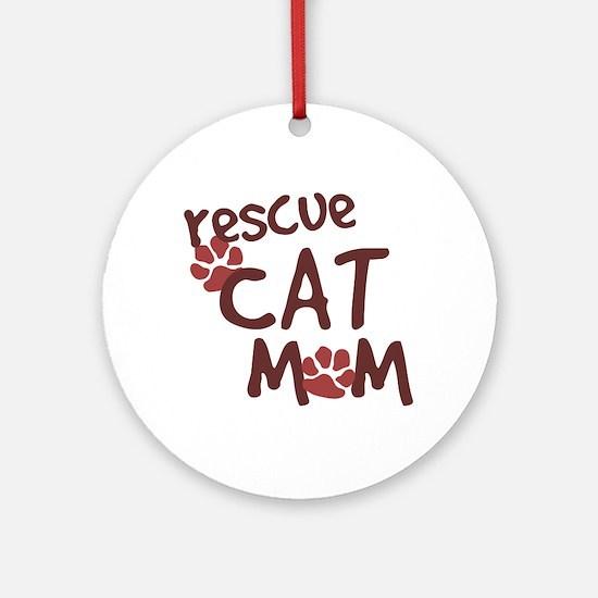 Rescue Cat Mom Ornament (Round)