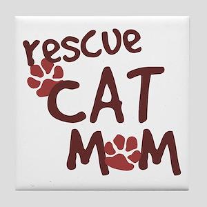Rescue Cat Mom Tile Coaster