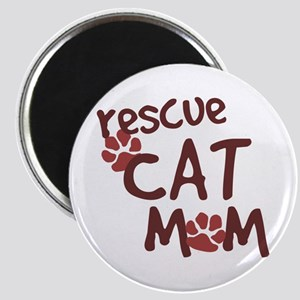 Rescue Cat Mom Magnet
