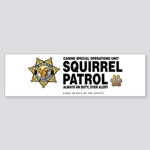 Squirrel Patrol Bumper Sticker