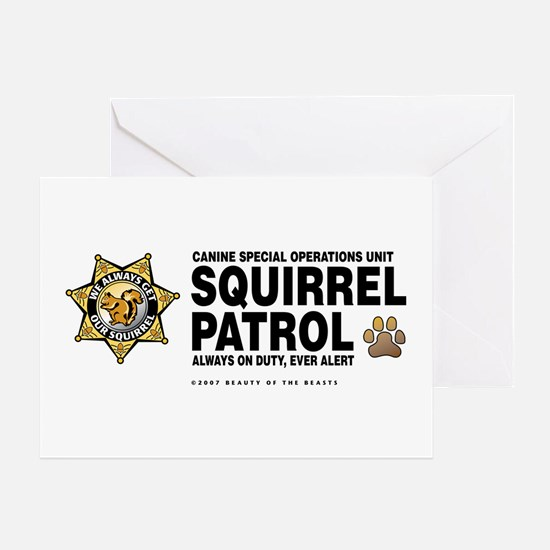 Squirrel Patrol Greeting Card