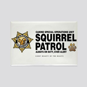 Squirrel Patrol Rectangle Magnet