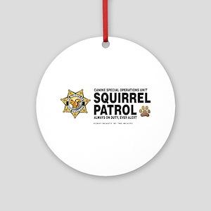 Squirrel Patrol Ornament (Round)
