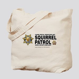 Squirrel Patrol Tote Bag