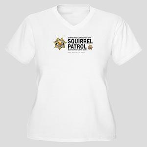 Squirrel Patrol Women's Plus Size V-Neck T-Shirt