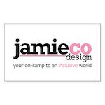 JamieCo Design Logo Rectangle Sticker 50 pk)