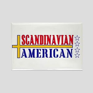 Scandinavian American Rectangle Magnet