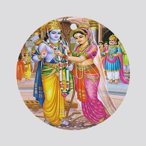 Wedding of Rama and Sita Ornament (Round)