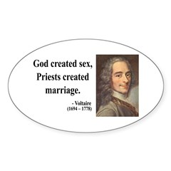 Voltaire 16 Oval Decal