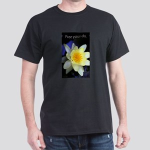 Free Your Chi Water Lily Dark T-Shirt
