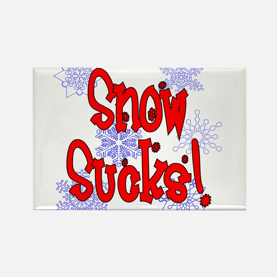 Snow Sucks! /red Rectangle Magnet
