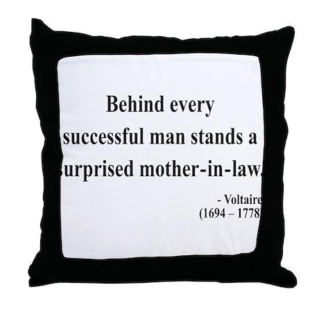 Voltaire 17 Throw Pillow