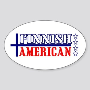 Finnish American Oval Sticker