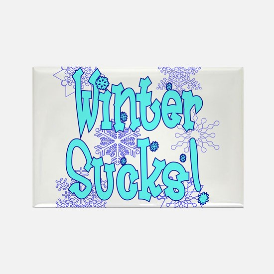 Winter Sucks! /blue Rectangle Magnet