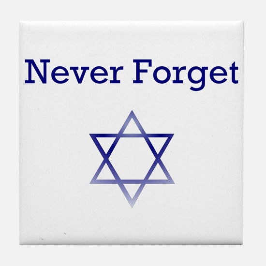 Holocaust Remembrance Star of David Tile Coaster
