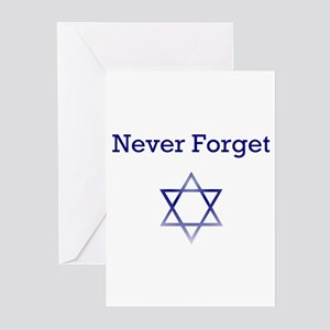 Holocaust Remembrance Star of David Greeting Cards