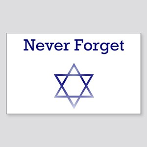 Holocaust Remembrance Star of David Sticker (Recta