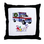 EMS Happy Holidays Greetings Throw Pillow