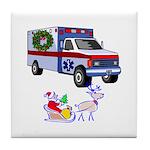 EMS Happy Holidays Greetings Tile Coaster