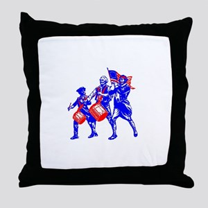 colonial colorguard Throw Pillow