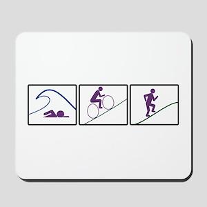 Triathlon Challenge (Box) Mousepad