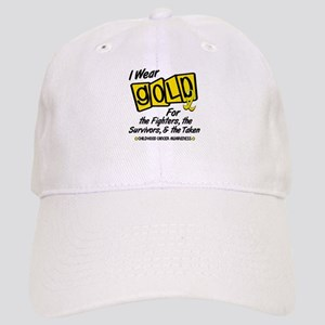 I Wear Gold For Fighters Survivors Taken 8 Cap