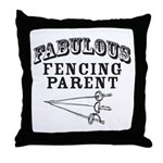 Fab Fencing Parent Throw Pillow