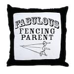 Fab Fencing Parent Throw Pillow