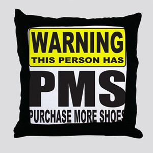 PURCHASE MORE SHOES Throw Pillow