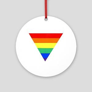 rainbow triangle Ornament (Round)