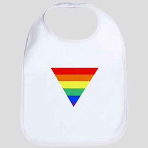 rainbow triangle Bib