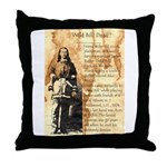 Wild Bill Hickock Throw Pillow