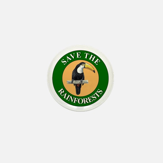 Save Rainforests Mini Button