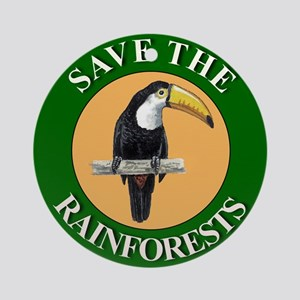 Save Rainforests Ornament (Round)