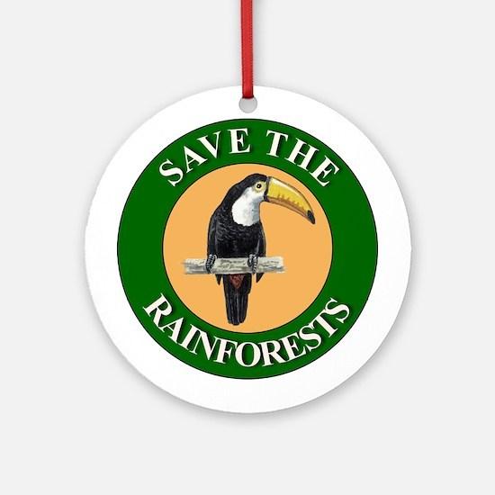 Save Rainforests Ornament (Round)