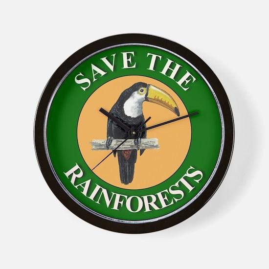 Save Rainforests Wall Clock
