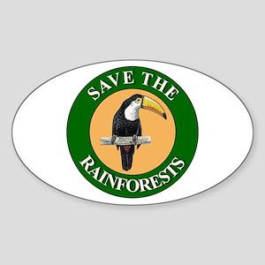 Save Rainforests Oval Sticker
